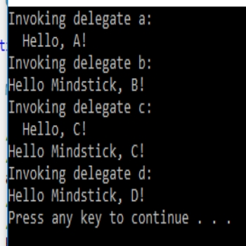 Delegate in c sharp