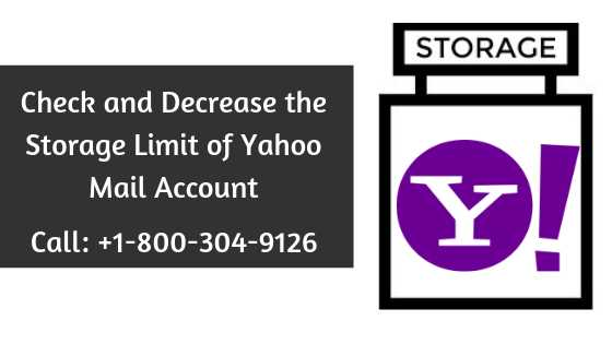 Check and Decrease the Storage Limit of Yahoo Mail Account