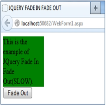 JQuery Fade In Fade Out