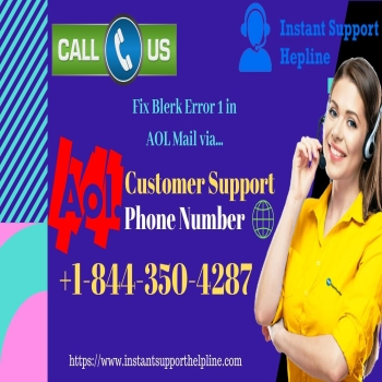 Fix Blerk Error 1 in AOL Mail via AOL Customer Support Phone Number