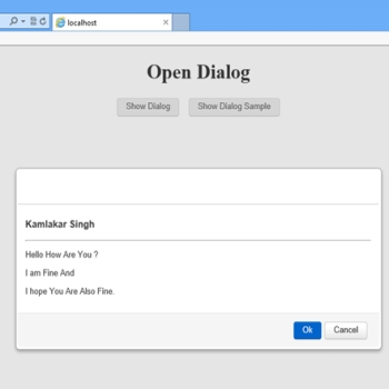 Dialog Using BootStrap in ASP.Net