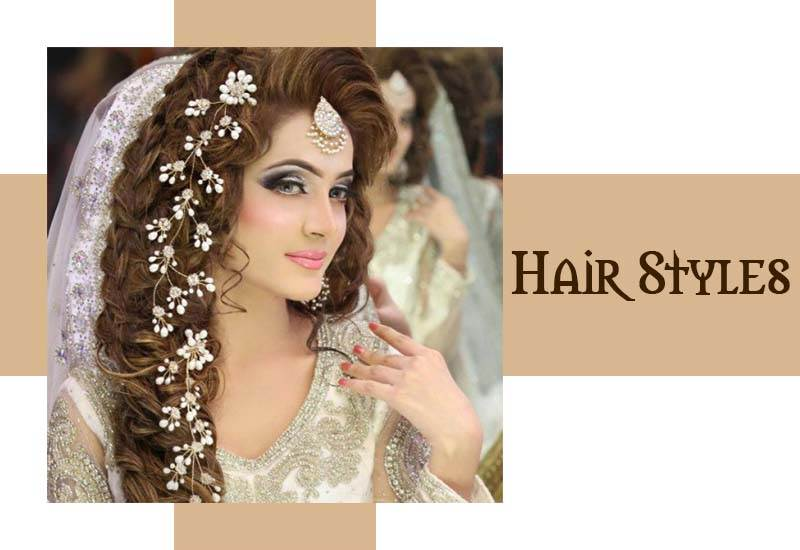 Latest Bridal Hairstyles for Pakistani Girls 2020