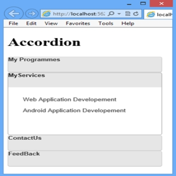 Accordion using BootStrap in ASP.Net