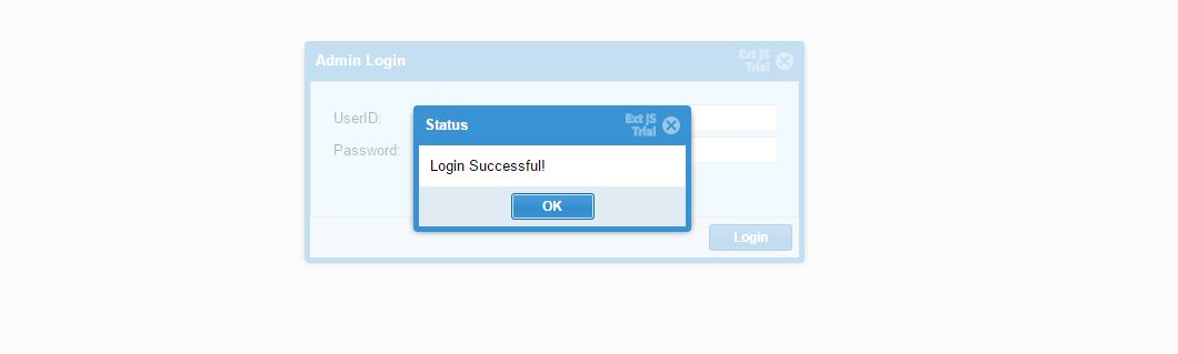 using extjs Create Login page and add,edit,update record from database.
