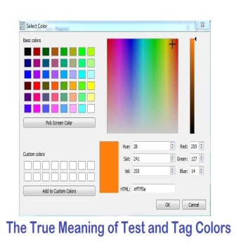 The True Meaning of Test and Tag Colors