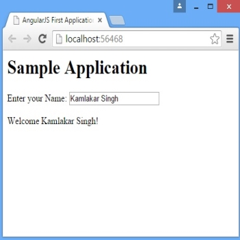 Angularjs First Application