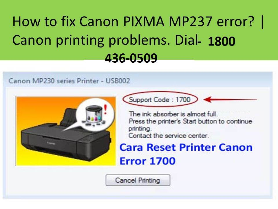 HOW TO FIX CANON PIXMA MP237 ERRORS? FREE CANON PRINTER SUPPORT