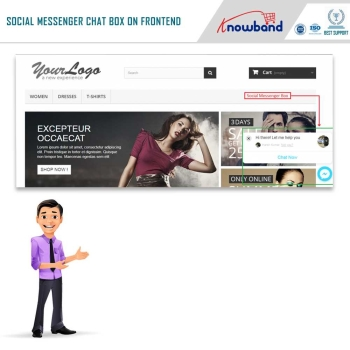 Knowband Prestashop Social Messenger Addon: Optimize your website with 24*7 chat support