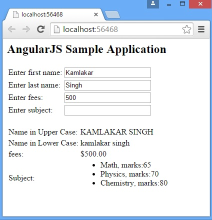 AngularJs Filters