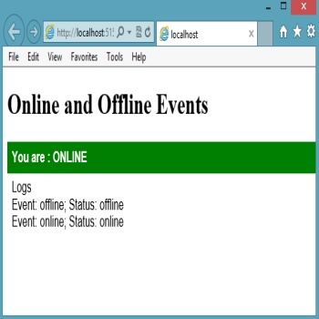 Online and Offline Events in HTML5