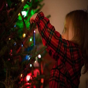 Tips to put loop Christmas tree lights on a tree