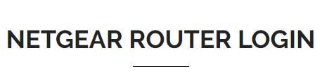 Login Netgear Router Router setup