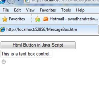 Creating html controls using Java Script