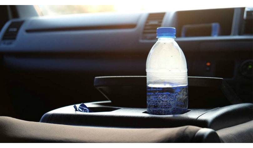 Is it dangerous to carry a bottle of water in the car?