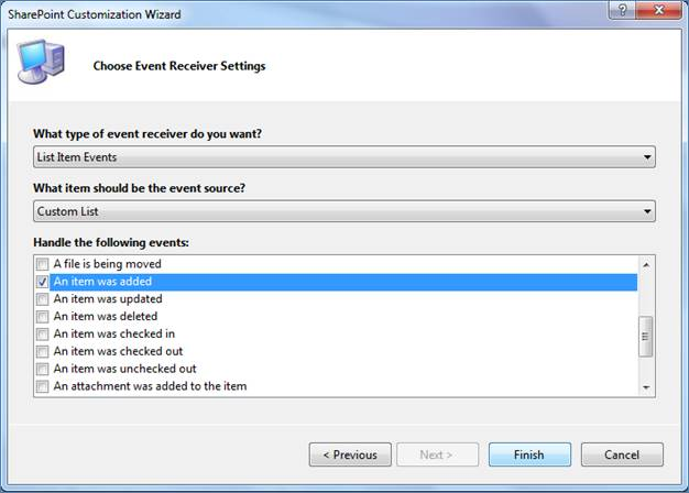 Event Receiver in SharePoint 2010
