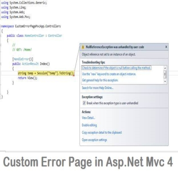 Custom Error Page in Asp.Net Mvc 4
