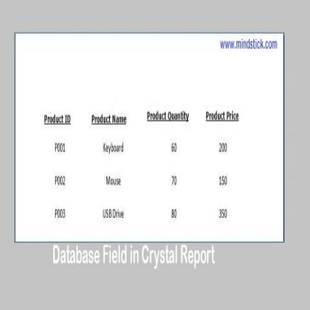 Database Field in Crystal Report