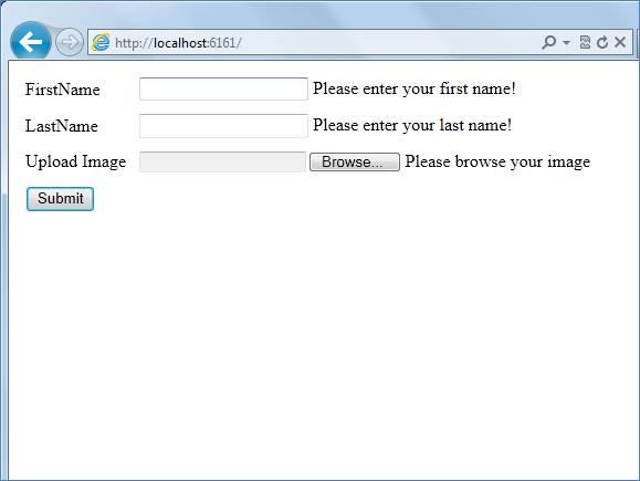 Upload File using Model Validation in ASP NET MVC