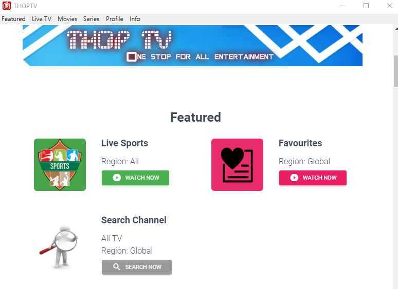 Thoptv APP for Android & PC Windows