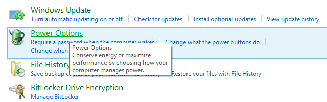 How to change power settings on Windows