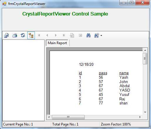 CrystalReportViewer Control in C#.Net
