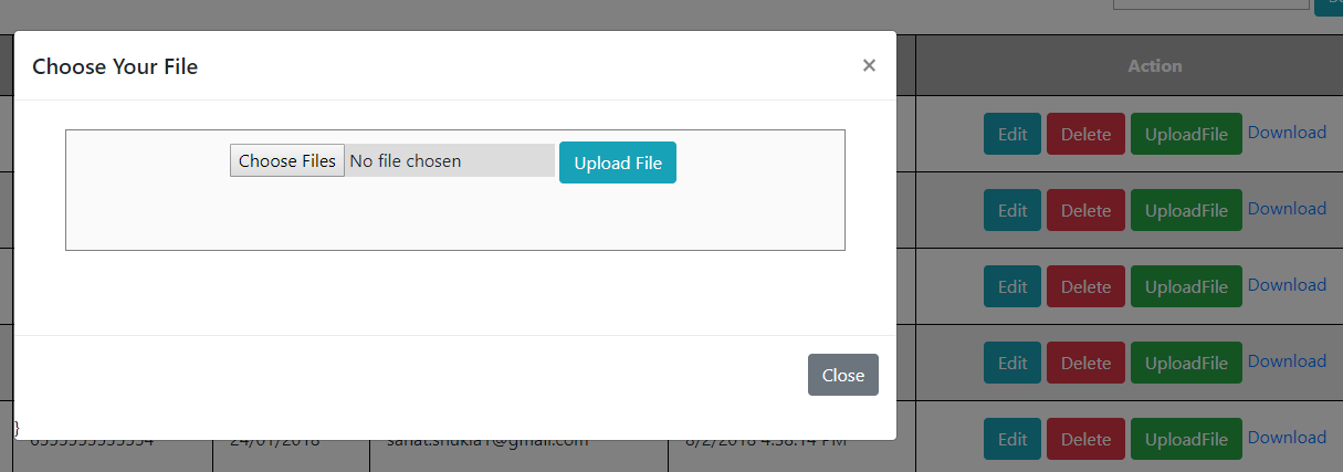 File Upload and Download in MVC.