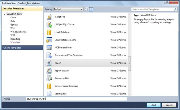 Using ReportViewer in WinForms C#