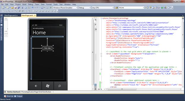 Button Control in Windows Phone 7 Development