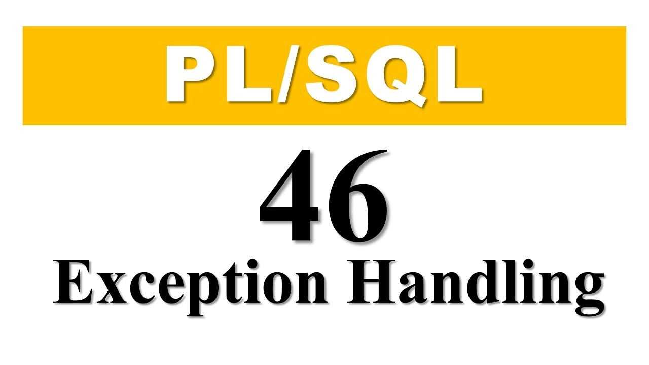 What is Exception Handling in PL/SQL?