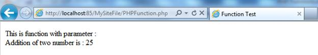 PHP User Defined Functions
