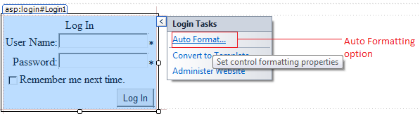 Login Control in ASP.Net