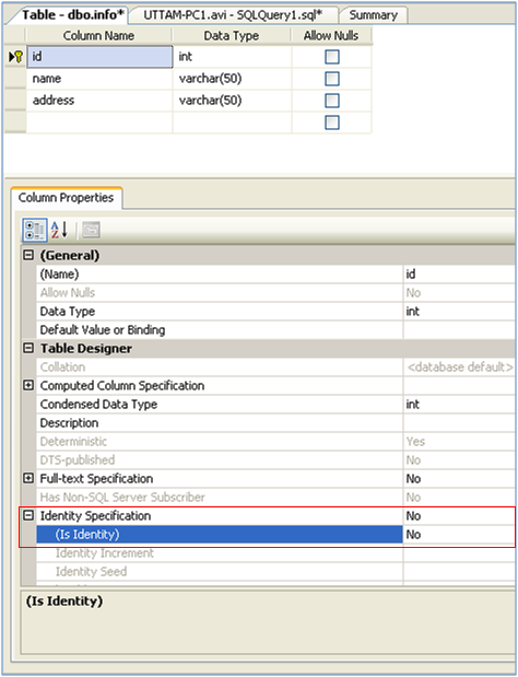 Add or Remove Identity Property on Column in SQL Server