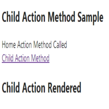 Child Action Method in Asp.Net Mvc 4