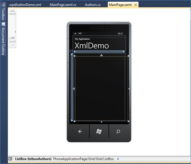 How to use XML in Windows Phone 7 Development