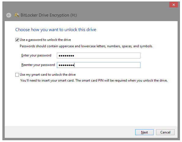 How to lock and unlock drive with Bit locker in Windows