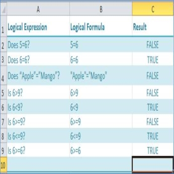 Conditional Expressions in Excel