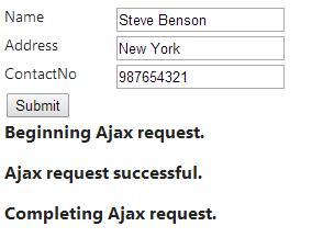 Ajax Helper in Asp.Net Mvc 4