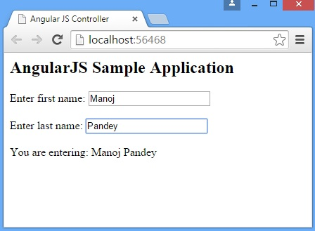 AngularJs Controllers