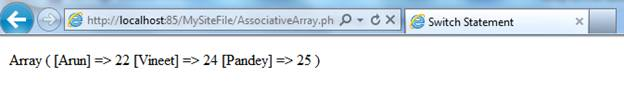 Array in PHP