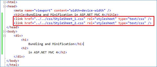 Bundling and Minification in ASP.NET MVC 4