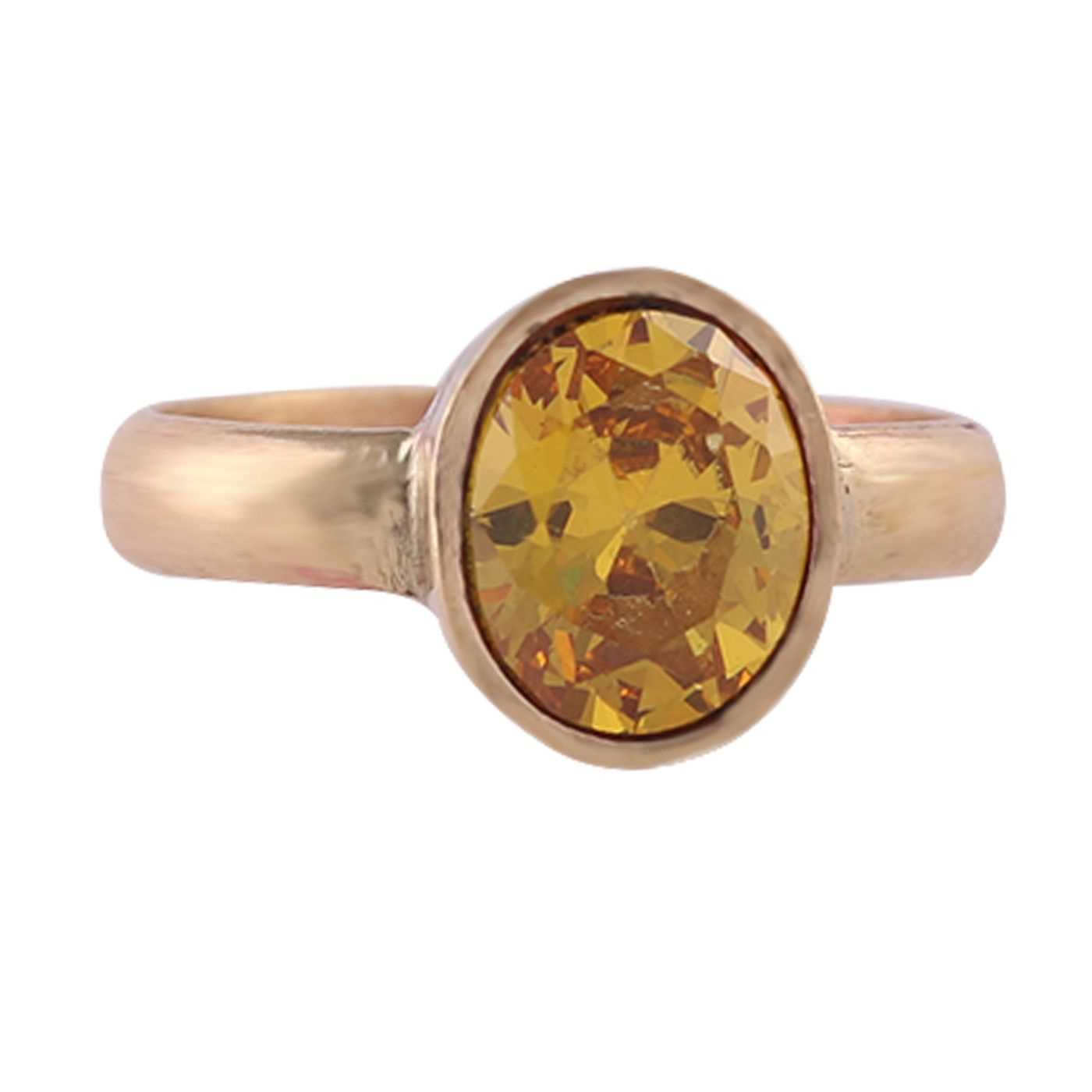 Natural Certified Yellow Sapphire Panchdhatu Ring