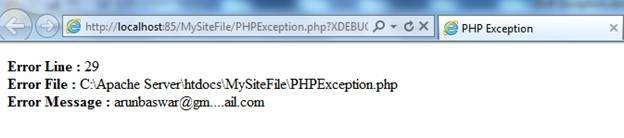 PHP Exception