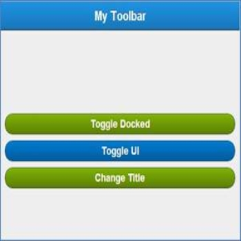 Toolbar in Sencha Touch