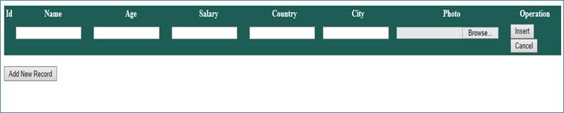 Insert, Delete, Update in GridView in ASP Net using C#
