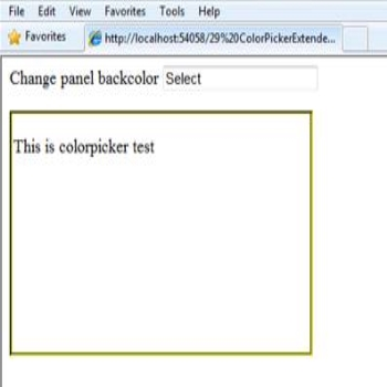 Ajax Toolkit ColorPickerExtender Control in ASP.Net