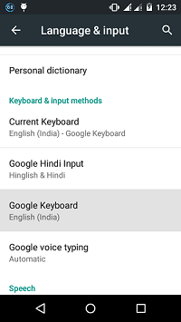 How to turn off predictive text and change the keyboard settings in Android