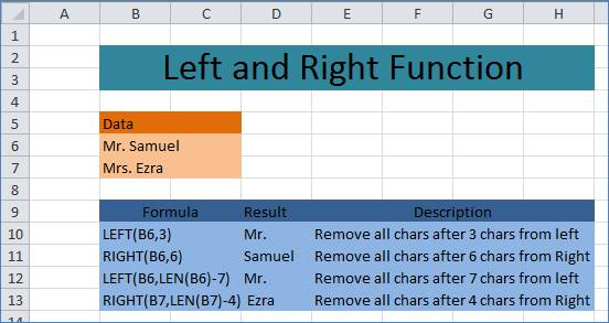 Remove characters from text in Excel