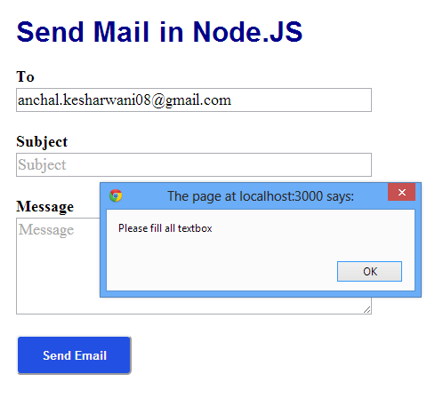 How to Send Mail in Node JS