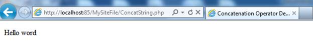 PHP String function