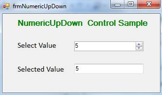 NumericUpDown Control in C#.Net
